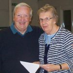 Jim McKendrick with Sister Agnes McGarvie, spiritual advisor of the SSVP.