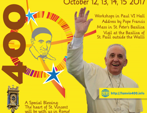 400th Anniversary: Plenary Indulgence for all Vincentian Family